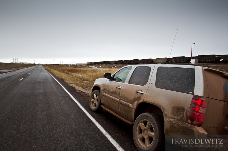 Railfanning the Powder River Basin near Wright, Wyoming.