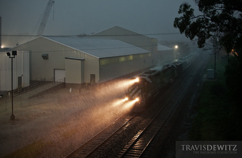 "BNSF 8011 hustles north through an incredible tornado warned thunderstorm.  Travis Dewitz <a href=""http://www.therailroadcollection.com/latest-works/"" target=""_blank"">The Railroad Collection</a>"