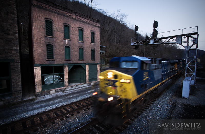 """The ghost town of Thurmond, West Virginia sits in an eerie silence only awakened by passing CSX coal and freight trains.  Travis Dewitz <a href=""""http://www.therailroadcollection.com/latest-works/"""" target=""""_blank"""">The Railroad Collection</a>"""