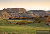 "Snaking through the Badlands of North Dakota, at Sully Springs, with empty coal hoppers heading back to the Powder River Basin.  Travis Dewitz <a href=""http://www.therailroadcollection.com/latest-works/"" target=""_blank"">The Railroad Collection</a>"