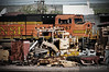 "Piles of equipment, steel, scrap, and junk are stored around the BNSF's Glendive, Montana yard.  Travis Dewitz <a href=""http://www.therailroadcollection.com/latest-works/"" target=""_blank"">The Railroad Collection</a>"