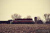 """A lone Wisconsin & Southern SD40-2 leads long hood forward across farmland just east of Zenda, Wisconsin.  Travis Dewitz <a href=""""http://www.therailroadcollection.com/latest-works/"""" target=""""_blank"""">The Railroad Collection</a>"""