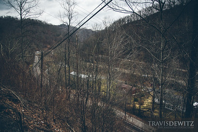 Elkhorn, West Virginia can be seen down below sandwiched between Highway 52 and Norfolk Southern's mainline.