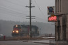 "Yard power moves through the fog and past the ""400"" Club on this cool March day.  Travis Dewitz <a href=""http://www.therailroadcollection.com/latest-works/"" target=""_blank"">The Railroad Collection</a>"