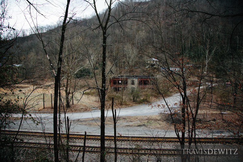 The Peerless Coal and Coke company store overlook the Norfolk Southern mainline through Vivian, West Virginia.