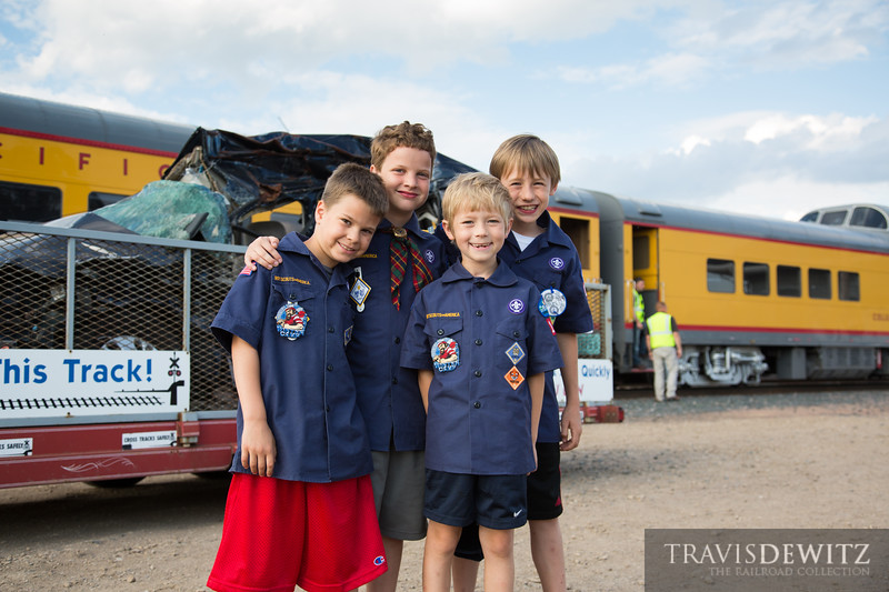 A special operation lifesaver special has been put on by Union Pacific for the Boy Scouts and Cub Scouts that has been traveling around the United States seen here in Altoona, Wisconsin.