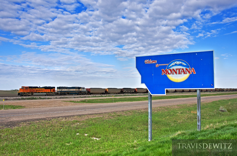 "More coal heads east across the Montana, North Dakota border on it's way to it's final destination.  Travis Dewitz <a href=""http://www.therailroadcollection.com/latest-works/"" target=""_blank"">The Railroad Collection</a>"