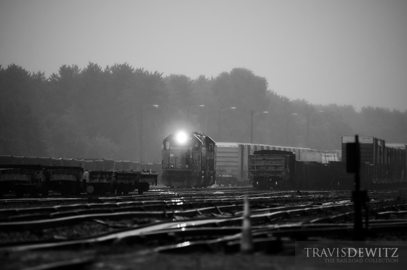 """The Altoona local Union Pacific crew works rain or shine switching out the yard.  Travis Dewitz <a href=""""http://www.therailroadcollection.com/latest-works/"""" target=""""_blank"""">The Railroad Collection</a>"""