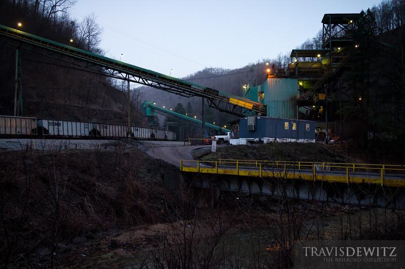 The TECO coal loading facility on the West Virginia and Virginia boarder near Hurley, VA.