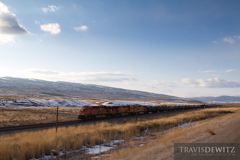 Feels like the top of the planet here near Soldier Summit. BNSF 6057 works east over the summit and then down grade towards Helper, Utah.