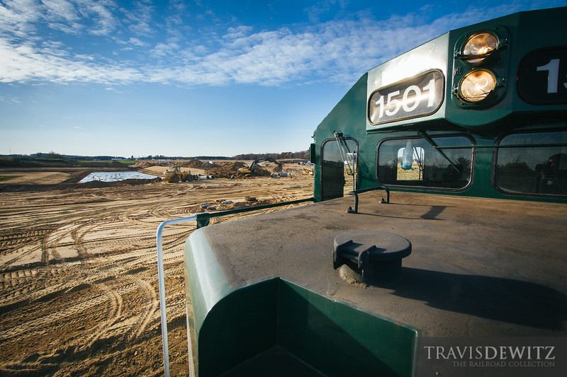 Construction is underway for the new frac sand processing plant that borders the Wisconsin Northern railroad in Chippewa Falls, Wisconsin.
