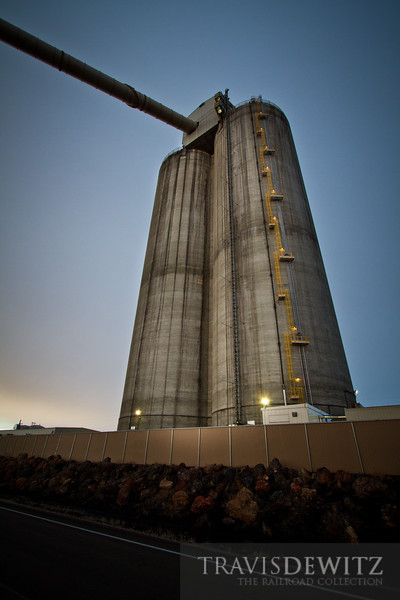 The tall concrete coal silos of Black Thunder West stand tall over Reno Junction.