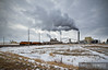 "BNSF 7295 pulls its train east right through the Wyodak Power Plant near Gillette, Wyoming.  Travis Dewitz <a href=""http://www.therailroadcollection.com/latest-works/"" target=""_blank"">The Railroad Collection</a>"