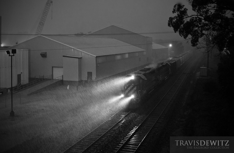 """BNSF 8011 hustles north through an incredible tornado warned thunderstorm.  Travis Dewitz <a href=""""http://www.therailroadcollection.com/latest-works/"""" target=""""_blank"""">The Railroad Collection</a>"""