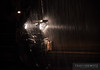 """The ditch lights of an Union Pacific GP38-2 backlight the rain from a downpour on a wet night in Altoona, Wisconsin.  Travis Dewitz <a href=""""http://www.therailroadcollection.com/latest-works/"""" target=""""_blank"""">The Railroad Collection</a>"""