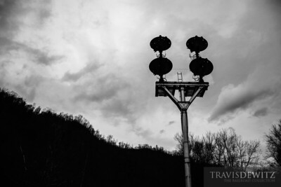 Some of the last N&W CPL signals on Norfolk Southern stand tall over Farm, West Virginia.