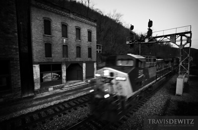The ghost town of Thurmond, West Virginia sits in an eerie silence only awakened by passing CSX coal and freight trains.