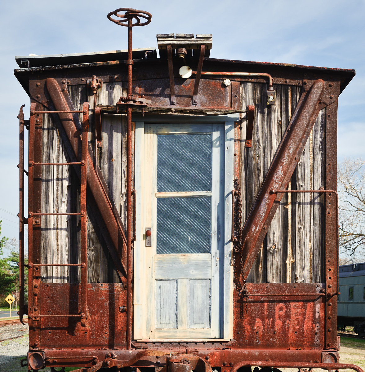 Old Wooden Caboose