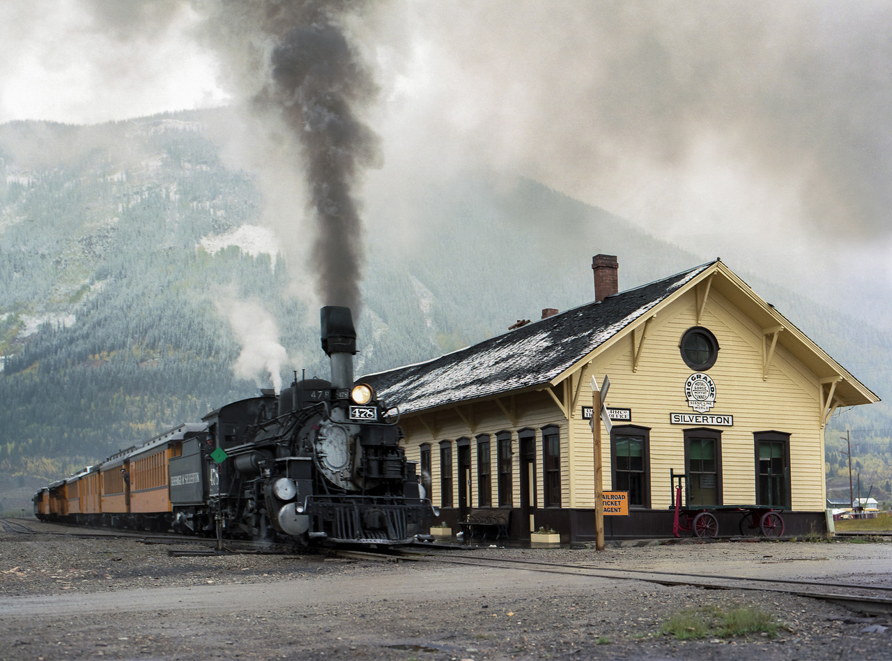 Durango & Silverton Train at the Silverton Station
