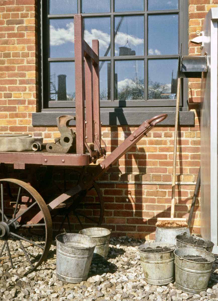 Old Wagon and Factory Building
