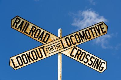 Cast Iron Crossbuck Railroad Crossing Sign