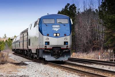 Amtrak Train in Petersburg Virginia