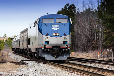 Amtrak Train in Petersburg Virginia