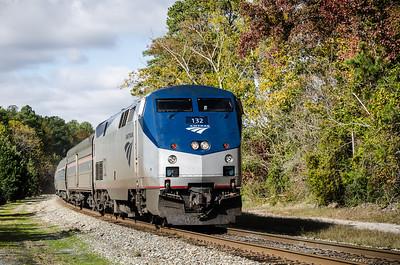 An Amtrak in Williamsburg
