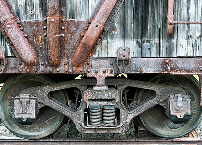 Rusted Old Wooden Boxcar Detail