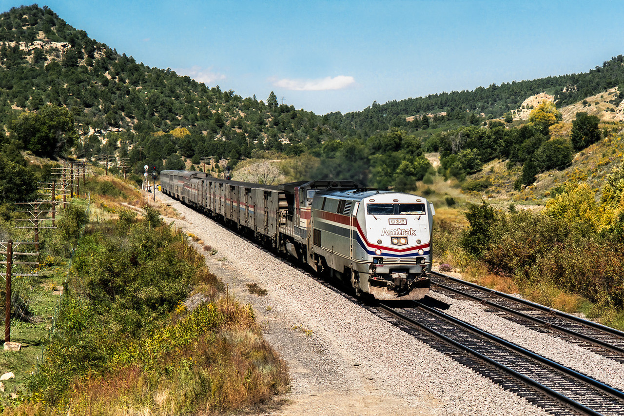 Amtrak Train near Raton New Mexico