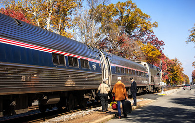 Boarding Amtrak Train