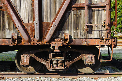 Old Wooden Caboose Detail
