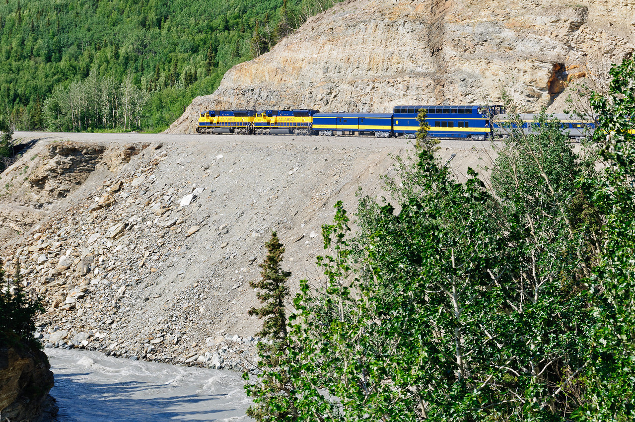 Alaska Railroad Along the Nenana River