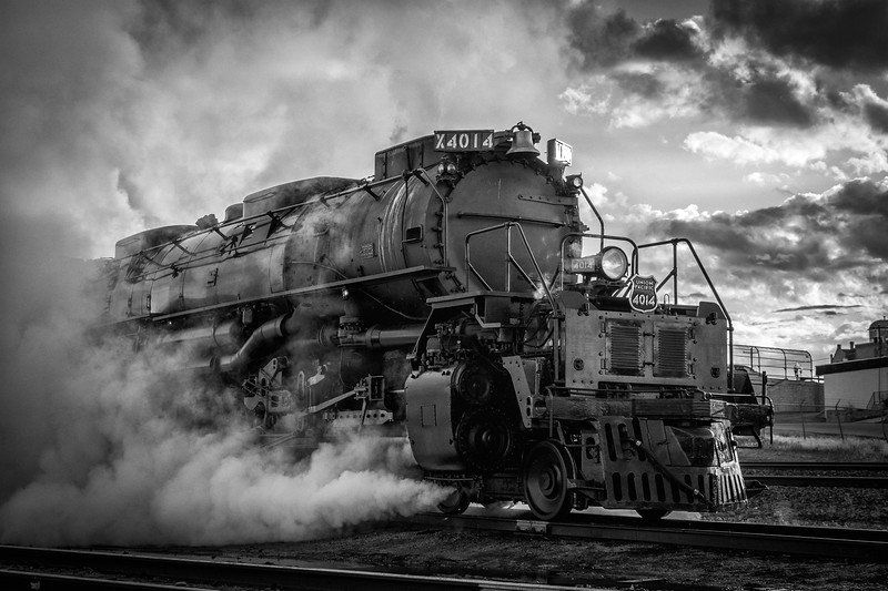 """Union Pacific """"Big Boy"""" 4014 at Rock Springs, Wyoming shortly before departing west for Evanston on September 3, 2019."""