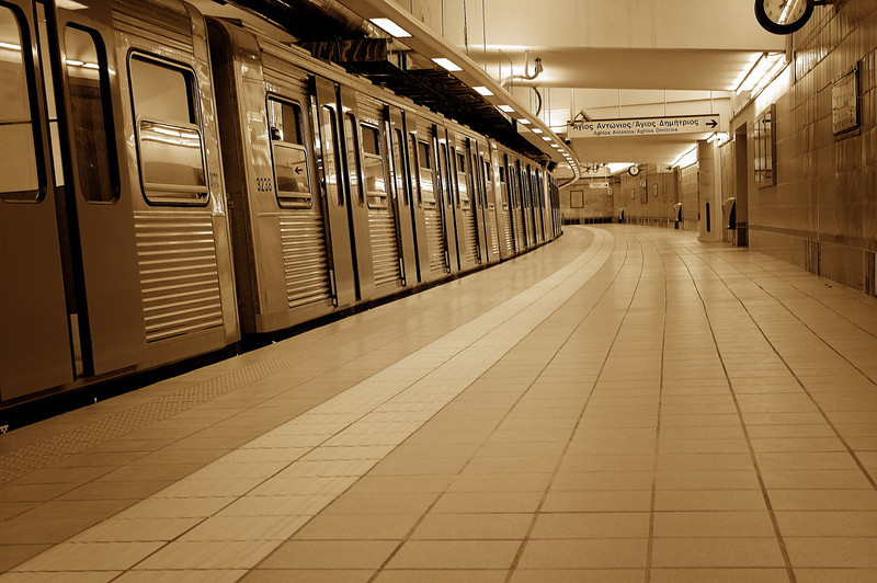 In Athens metro..