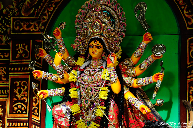 Worshipping of Hindu Goddess Durga @ BAGA Atlanta, Georgia - USA
