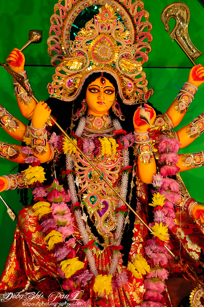 Worshipping of Hindu Goddess Durga @ Purbasha - Atlanta, Georgia - USA