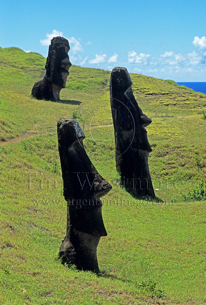 Moai at Ranu Raraku