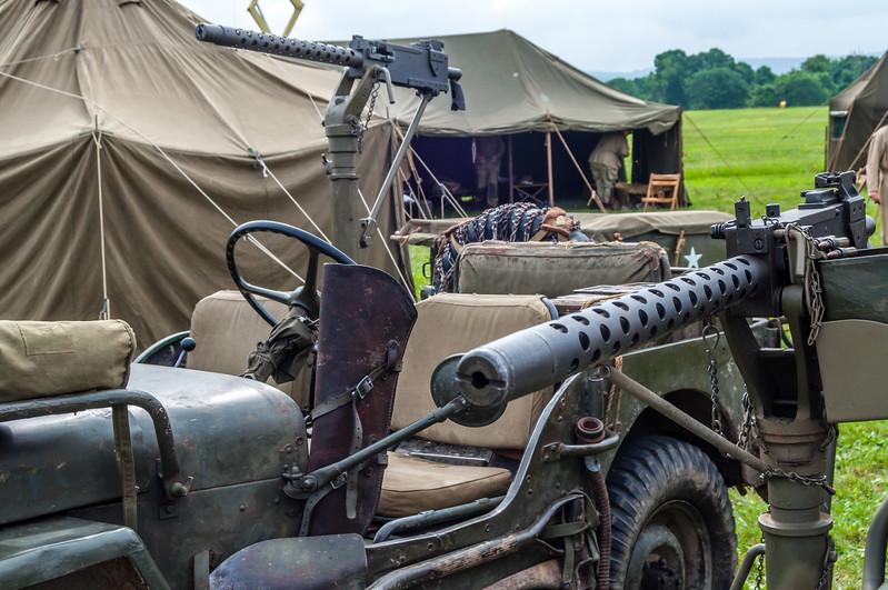 Big Guns on a US Jeep