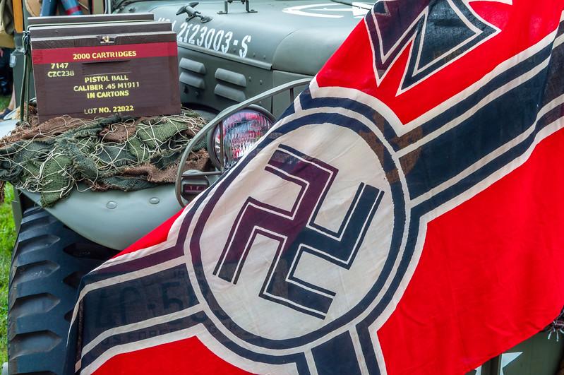 Nazi Flag on a US Jeep
