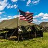 US Flag & Tent