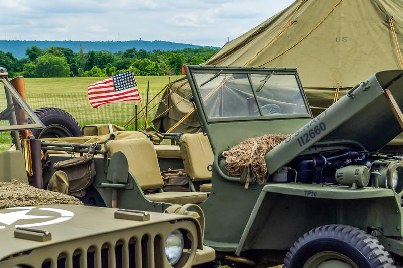 US Flag on a Jeep