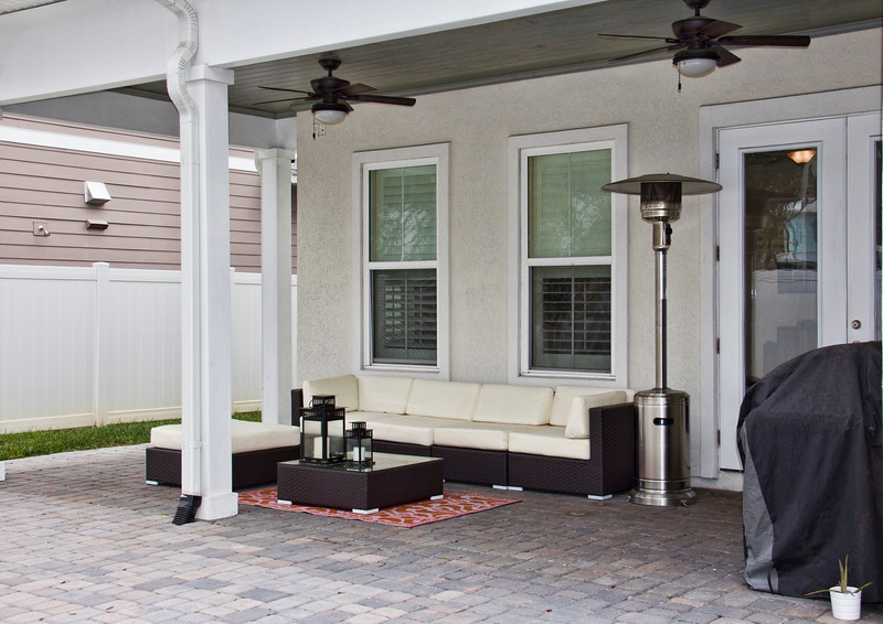 Patio to a home in Ponte Vedra Beach, FL