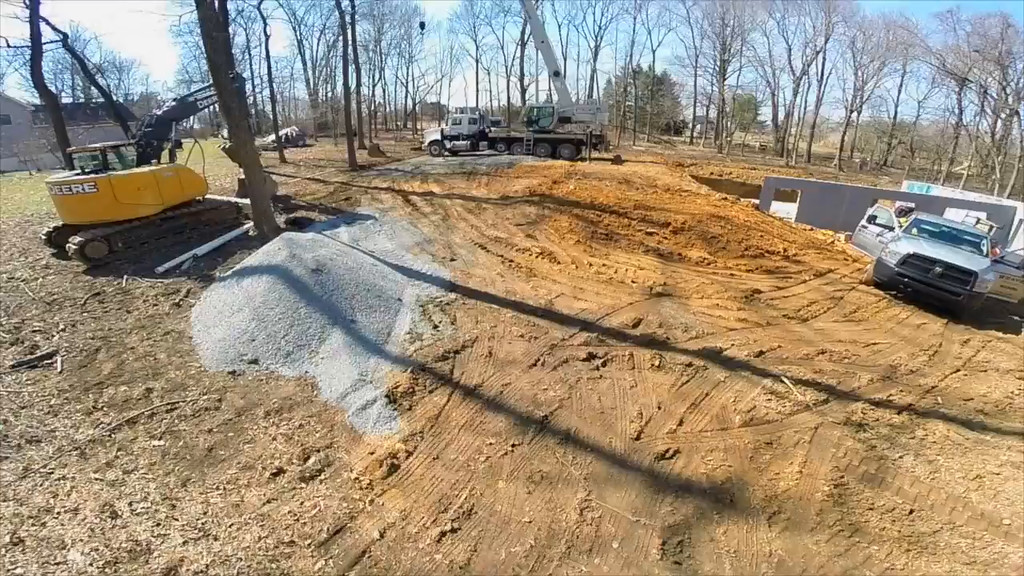 107 Lenora Lane - foundation build - drone footage
