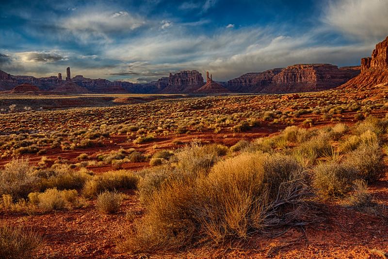 """""""Sunset Spires, Valley of the Gods - 23 February 2017"""", Bears Ears National Monument, Utah, USA"""