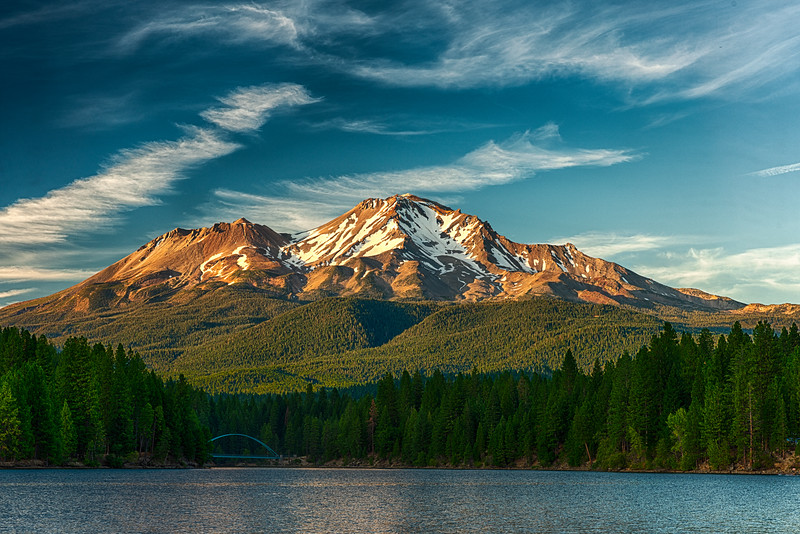 Mount Shasta Sunset from Lake Siskiyou- 22-August-2019