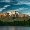 Mount Shasta Sunset from Lake Siskiyou- 22-August-2019