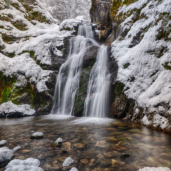 Faery Falls, Winter Morning, Siskiyou County, California - 17 January 2020