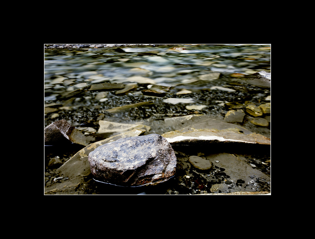 Stone in the Stream, Johnston Canyon
