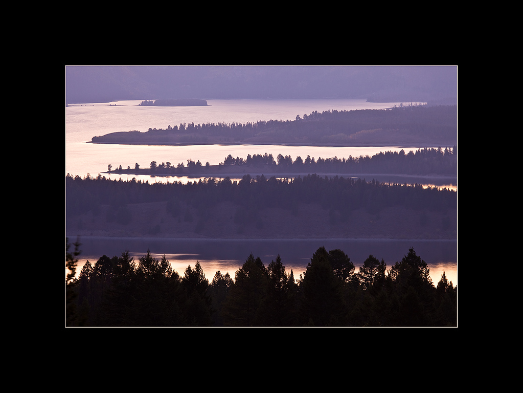 Jackson Lake at sunset, Grand Teton National Park